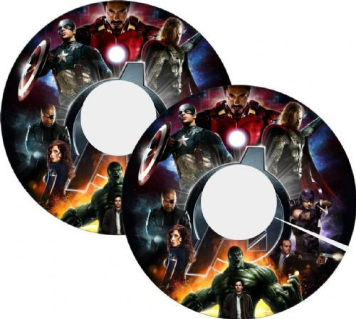 MARVEL AVENGERS Wheelchair Spoke Guards sticker skins